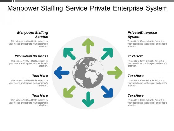 Manpower Staffing Service Private Enterprise System Promotion Business Ppt PowerPoint Presentation Infographics Show
