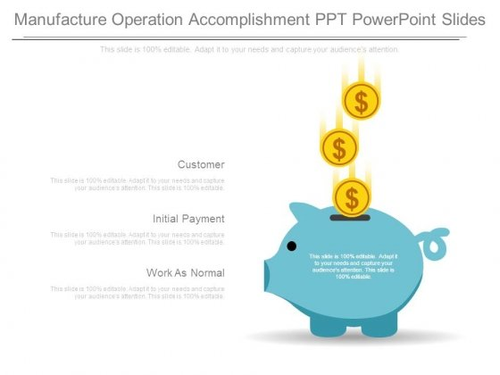 Manufacture Operation Accomplishment Ppt Powerpoint Slides