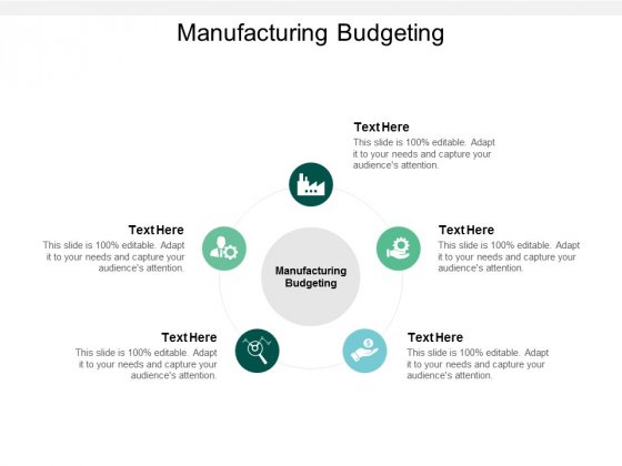 Manufacturing Budgeting Ppt PowerPoint Presentation Diagram Graph Charts Cpb