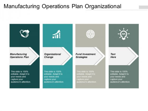 Manufacturing Operations Plan Organizational Change Fund Investment Strategies Ppt PowerPoint Presentation Infographics Layout