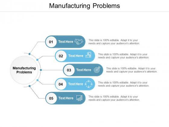 Manufacturing Problems Ppt PowerPoint Presentation Professional Master Slide Cpb