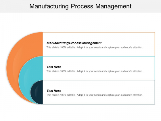 Manufacturing Process Management Ppt PowerPoint Presentation Styles Templates Cpb