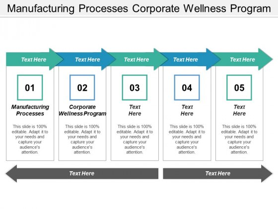 Manufacturing Processes Corporate Wellness Program Ppt PowerPoint Presentation Summary Background Designs
