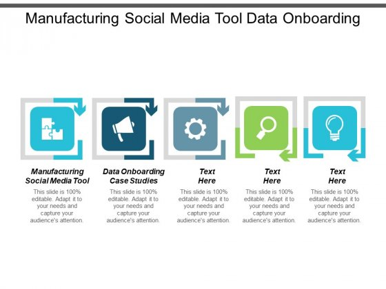 Manufacturing Social Media Tool Data Onboarding Case Studies Ppt PowerPoint Presentation Layouts Background Image