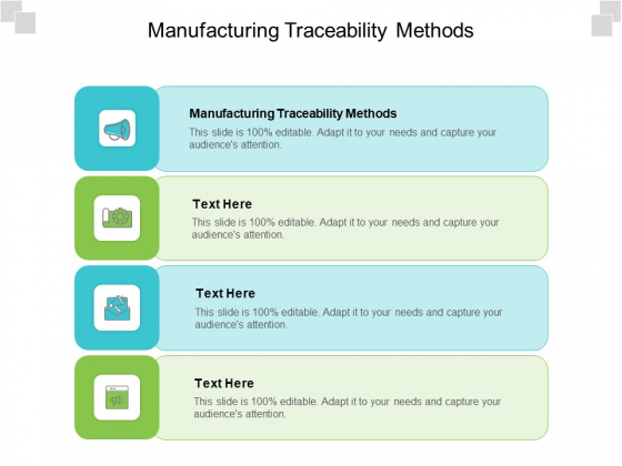 Manufacturing Traceability Methods Ppt PowerPoint Presentation Infographic Template Designs Download Cpb Pdf