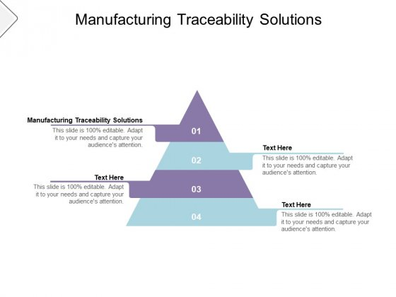 Manufacturing Traceability Solutions Ppt PowerPoint Presentation Outline Mockup Cpb Pdf