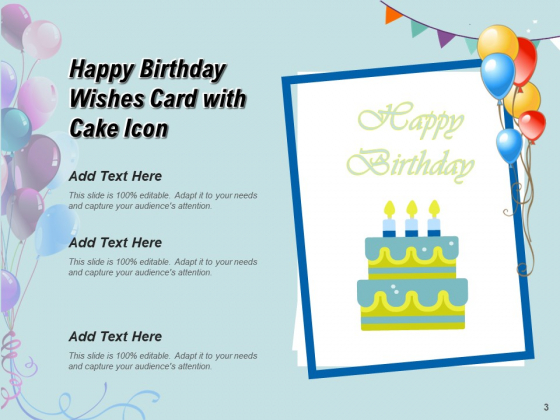 Many_Happy_Returns_Of_Day_Greetings_Cake_Icon_Mobile_Ppt_PowerPoint_Presentation_Complete_Deck_Slide_3