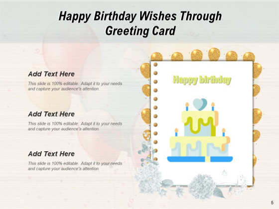 Many_Happy_Returns_Of_Day_Greetings_Cake_Icon_Mobile_Ppt_PowerPoint_Presentation_Complete_Deck_Slide_5