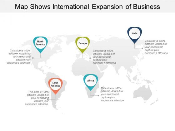 Map Shows International Expansion Of Business Ppt Powerpoint Presentation Portfolio Graphics