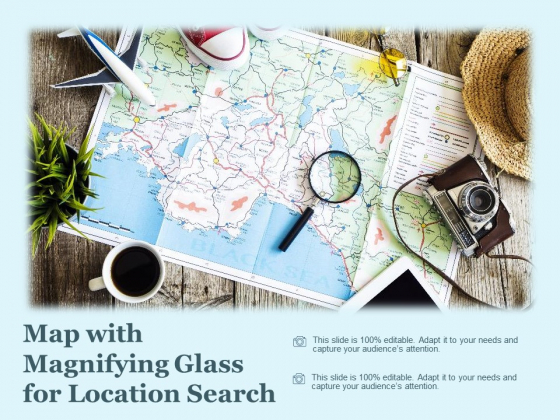 Map With Magnifying Glass For Location Search Ppt PowerPoint Presentation Gallery Design Ideas
