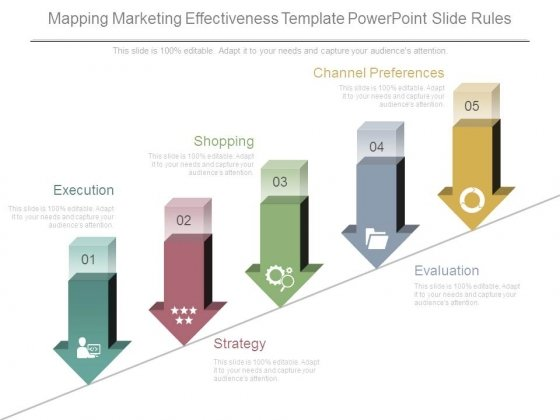 Mapping Marketing Effectiveness Template Powerpoint Slide Rules