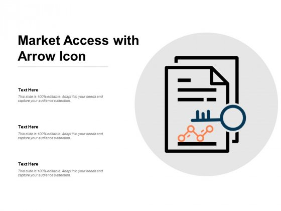 Market Access With Arrow Icon Ppt PowerPoint Presentation File Smartart