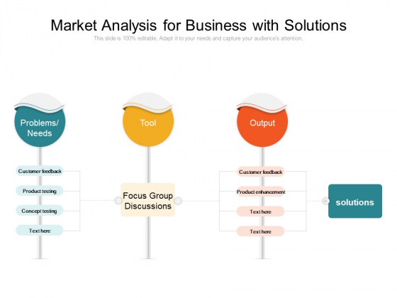 Market Analysis For Business With Solutions Ppt PowerPoint Presentation Styles Graphics Example PDF