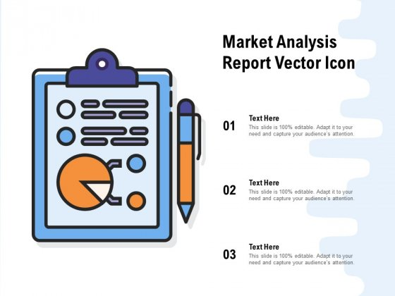 Market Analysis Report Vector Icon Ppt PowerPoint Presentation Infographic Template Vector