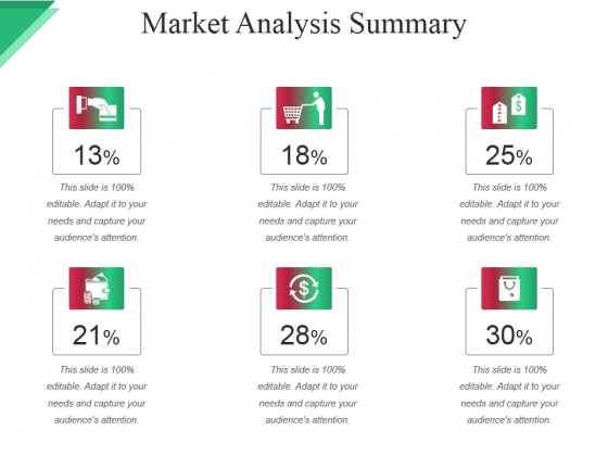 Market Analysis Summary Ppt PowerPoint Presentation Infographic Template Example File