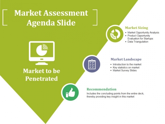 Market Assessment Agenda Slide Ppt PowerPoint Presentation Visual Aids Summary