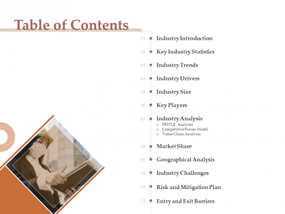 Market Assessment Table Of Contents Ppt Layouts Professional PDF