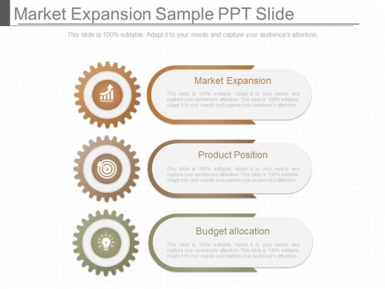 Market Expansion Sample Ppt Slide