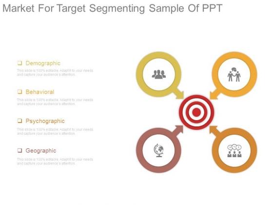 Market For Target Segmenting Sample Of Ppt