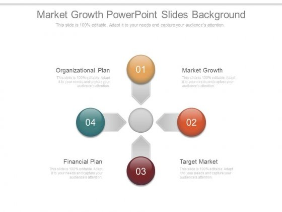 Market Growth Powerpoint Slides Background