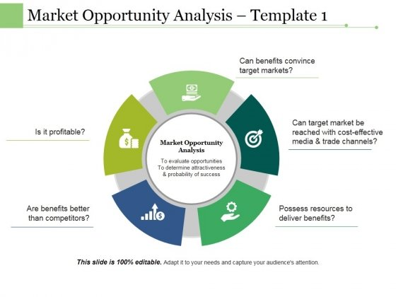 Market Opportunity Analysis Template 1 Ppt PowerPoint Presentation Outline Brochure