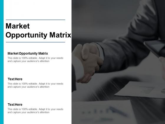 Market Opportunity Matrix Ppt PowerPoint Presentation Styles Design Inspiration Cpb