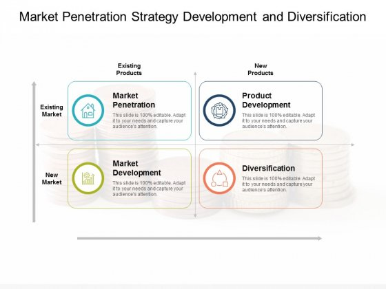 Market Penetration Strategy Development And Diversification Ppt Powerpoint Presentation Outline Icons