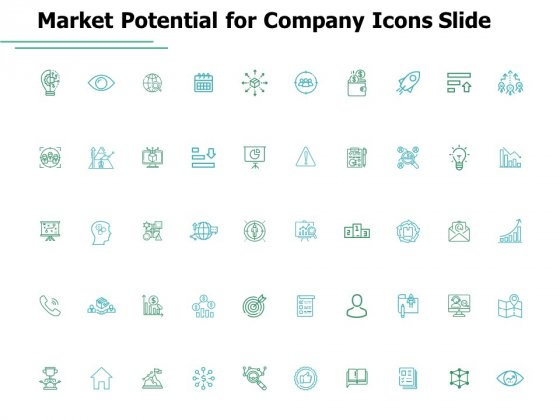 Market Potential For Company Icons Slide Ppt PowerPoint Presentation Show Format Ideas