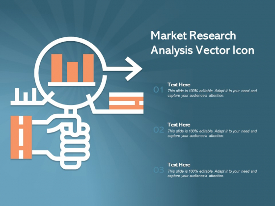 Market Research Analysis Vector Icon Ppt PowerPoint Presentation Slides Background Images