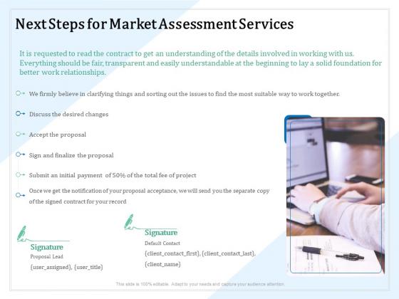 Market Research Next Steps For Market Assessment Services Ppt PowerPoint Presentation Slides Introduction PDF