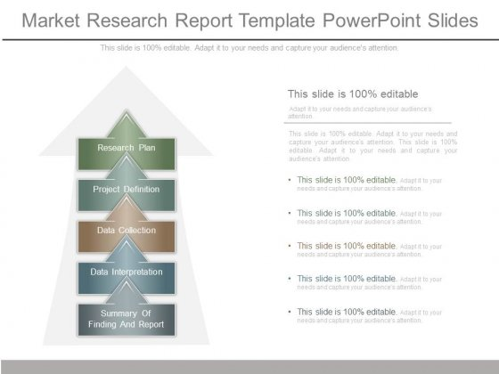 Market Research Report Template Powerpoint Slides  Powerpoint Templates