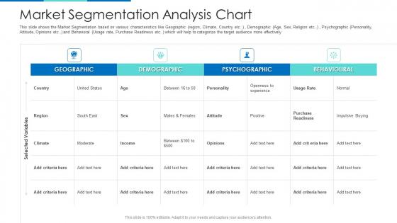 Market Segmentation Analysis Chart Ppt Show Designs PDF