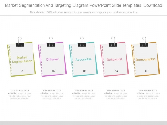 Market Segmentation And Targeting Diagram Powerpoint Slide Templates Download