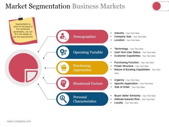 Market Segmentation Business Markets Ppt PowerPoint Presentation Inspiration Portrait