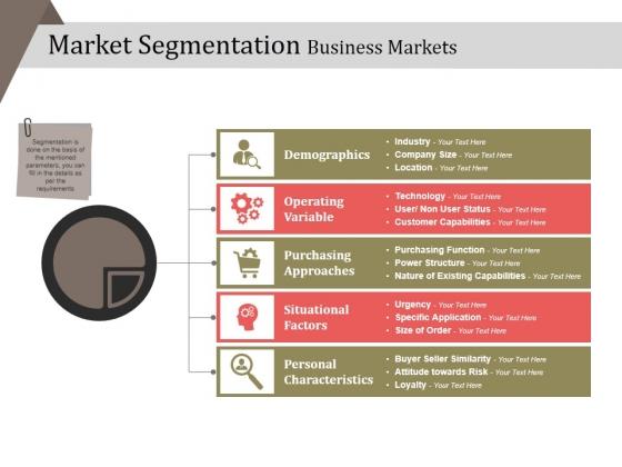 Market Segmentation Business Markets Ppt PowerPoint Presentation Professional Designs Download