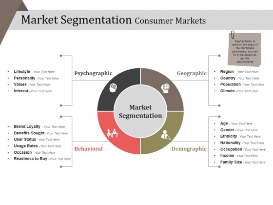Market Segmentation Consumer Markets Ppt PowerPoint Presentation Infographic Template Files