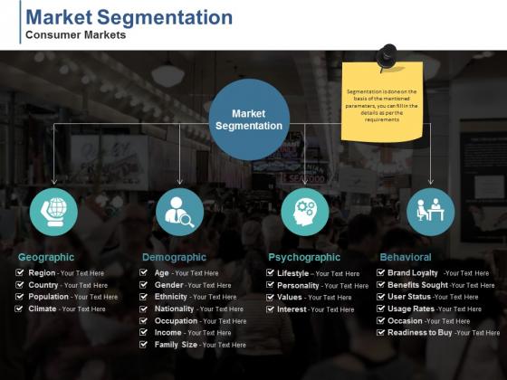 Market Segmentation Consumer Markets Ppt PowerPoint Presentation Professional Master Slide
