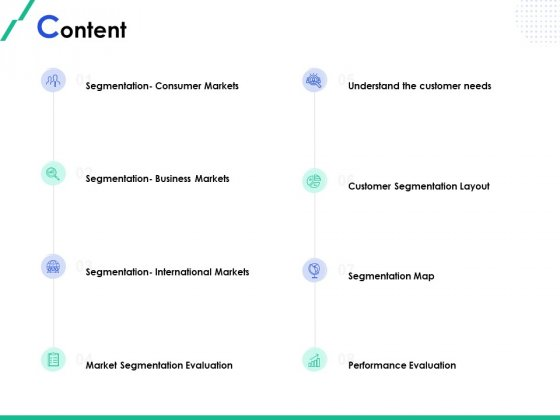 Market Segmentation Content Ppt Layouts Slide Download PDF