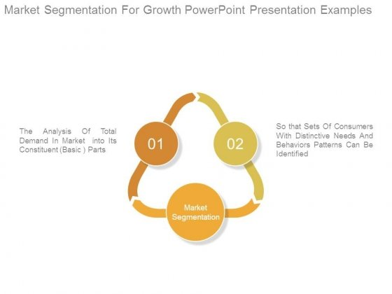 Market Segmentation For Growth Powerpoint Presentation Examples
