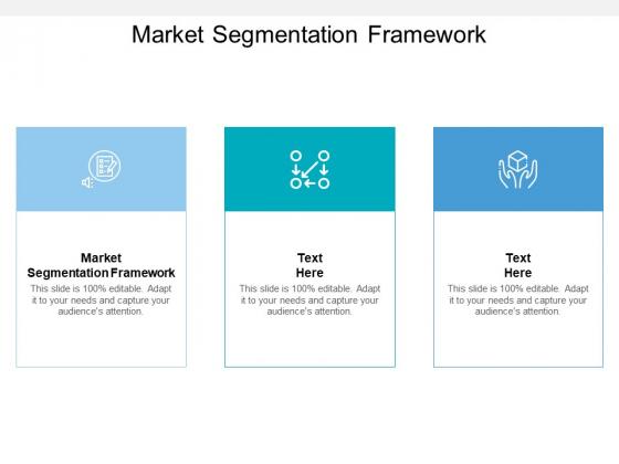Market Segmentation Framework Ppt PowerPoint Presentation Show Examples Cpb