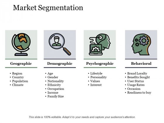Market Segmentation Ppt PowerPoint Presentation Inspiration Pictures