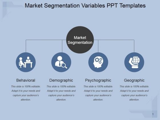 Market Segmentation Variables Ppt PowerPoint Presentation Themes