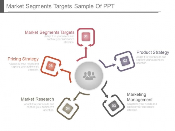 Market Segments Targets Sample Of Ppt