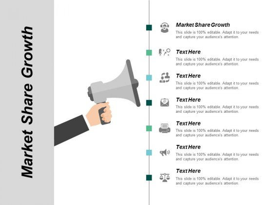 Market Share Growth Ppt Powerpoint Presentation Infographic Template Examples Cpb
