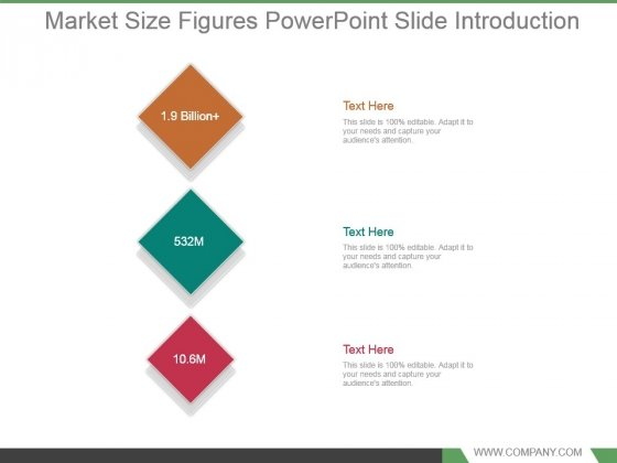 Market Size Figures Powerpoint Slide Introduction