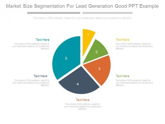 Market Size Segmentation For Lead Generation Good Ppt Example