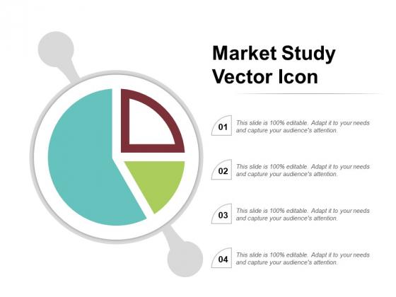 Market Study Vector Icon Ppt PowerPoint Presentation File Slides