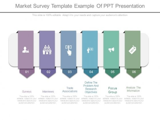 market survey template example of ppt presentation powerpoint