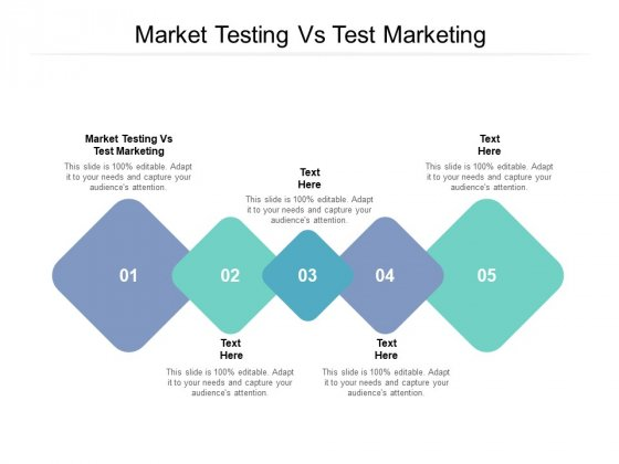 Market Testing Vs Test Marketing Ppt PowerPoint Presentation Model Visual Aids Cpb