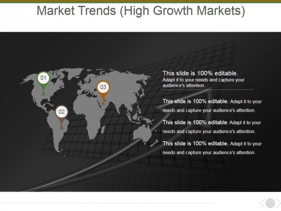 Market Trends High Growth Markets Ppt PowerPoint Presentation Gallery Display